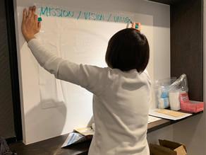 3名のメンバーの悩みから発足した、ミッション・ビジョン・バリュー研究会の第1回目を開催。