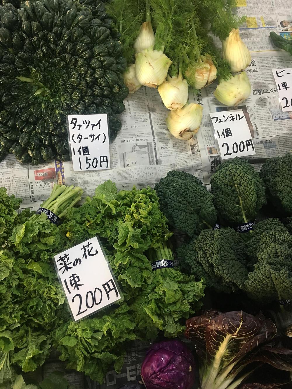 vanlifejapan, kamakura farmers market, fresh veges
