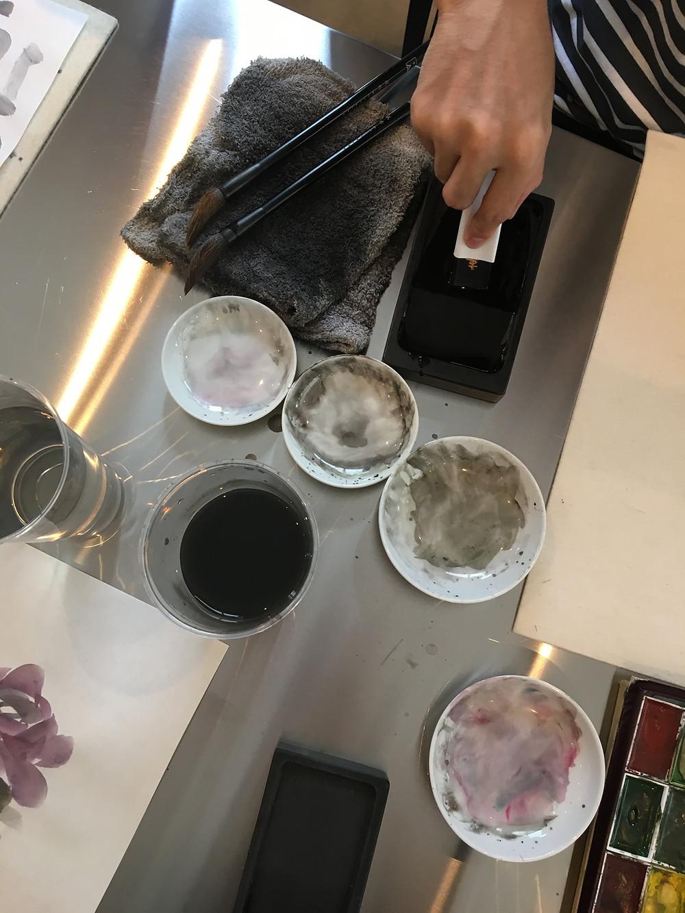 水墨画,ink,art,tokyo,workshop,Coworkingspace,office