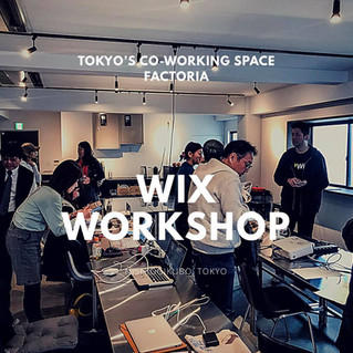 Wix Workshop at Tokyo co-working space