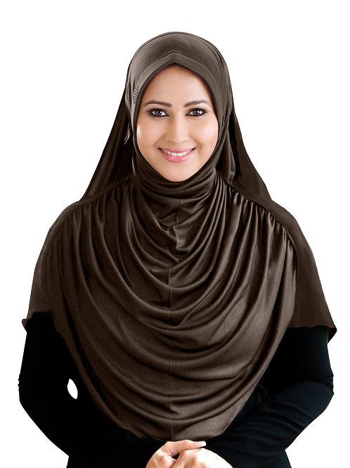 Modest Women's Fleeted Stylish Feel Good Fabric  FAEEZAH Hijab Formal Grey