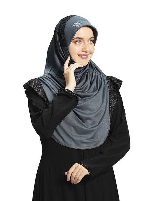 Modest Fashion Women's Soft feel good Fabric Naaz Hijab Grey in Black