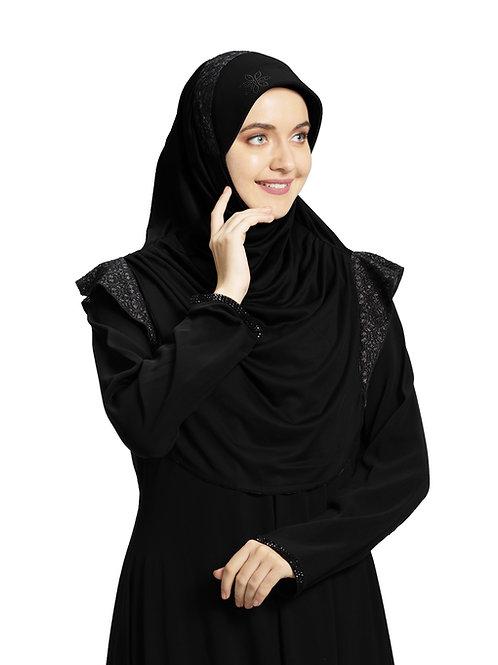 Modest Fashion Women's Soft feel good Fabric Naaz Hijab Black