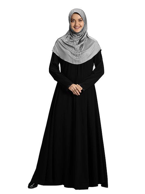 Modest Fashion Women's Soft feel good Fabric Manal Hijab Silver