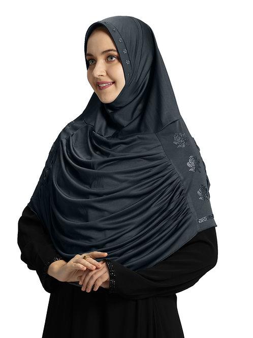 Modest Fashion Women's Soft feel good Fabric Aasimah Hijab Grey