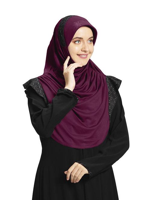Modest Fashion Women's Soft feel good Fabric Naaz Hijab Vine in Black