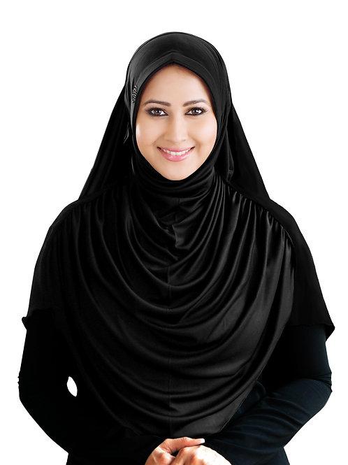 Modest Women's Designed Fleeted Stylish Feel Good Fabric FAEEZAH BLACK HIJAB