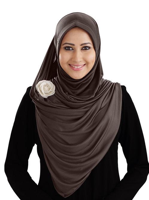 Modest Women's stylish  Soft feel good fabric AnarkaIi Hijab Formal Grey