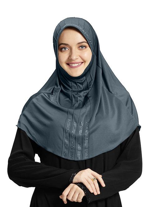 Modest Fashion Women's Soft feel good Fabric Manal Hijab Grey