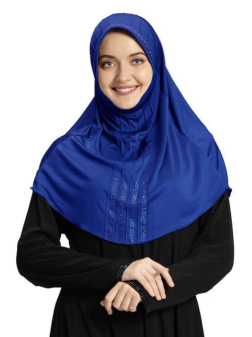 Modest Fashion Women's Soft feel good Fabric Manal Hijab Royal Blue