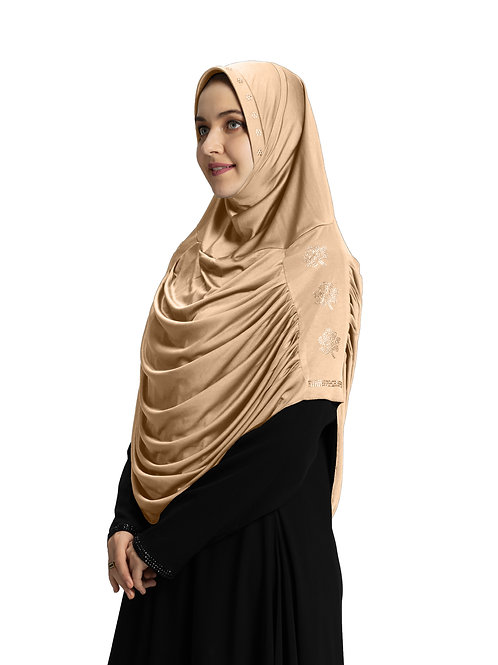 Modest Fashion Women's Soft feel good Fabric Aasimah Hijab Wheat