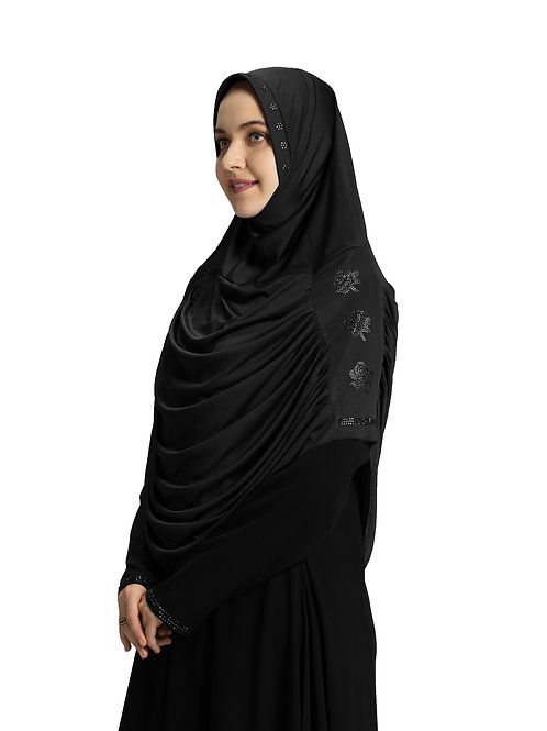 Modest Fashion Women's Soft feel good Fabric Aasimah Hijab Black