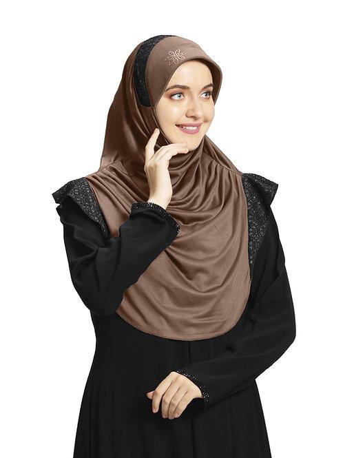 Modest Fashion Women's Soft feel good Fabric Naaz Hijab Dark Wheat