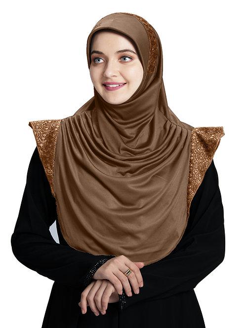 Modest Fashion Women's Soft feel good Fabric Naaz Hijab D Wheat- Copper