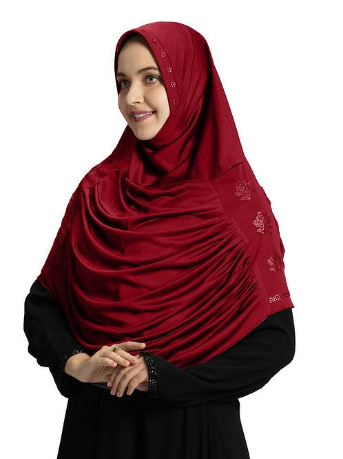 Modest Fashion Women's Soft feel good Fabric Aasimah Hijab Maroon