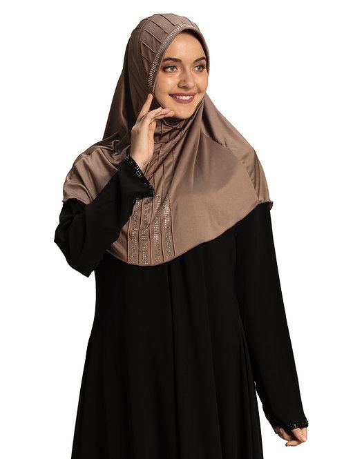 Modest Fashion Women's Soft feel good Fabric Manal Hijab Dark Wheat