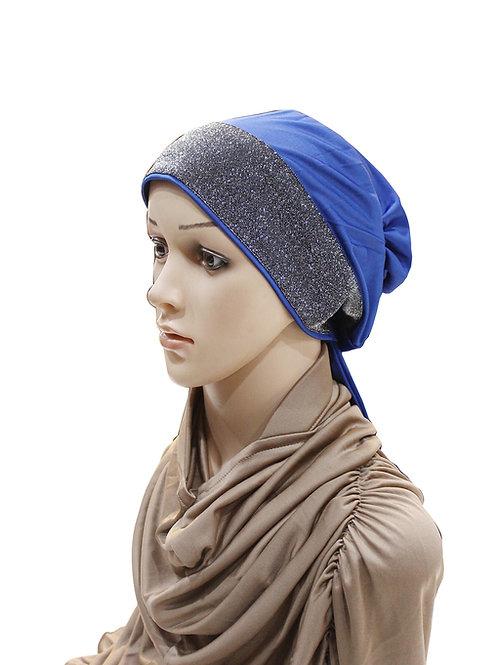 Mehar Hijab`s Women's Stylish Ponytail Headwrap Glitter Twinkle T Cap