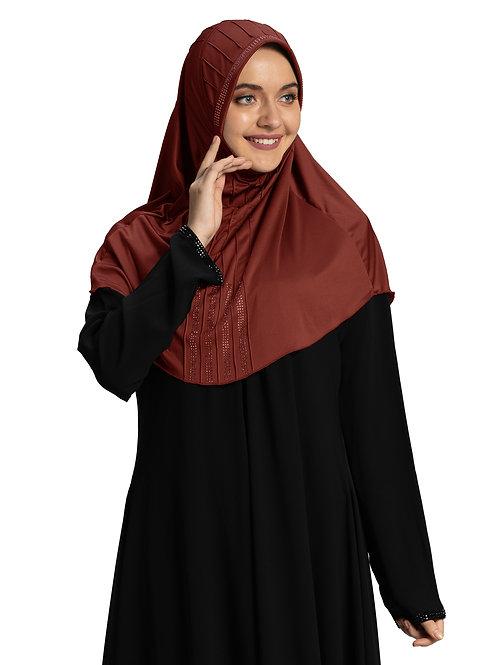 Modest Fashion Women's Soft feel good Fabric Manal Hijab Maroon