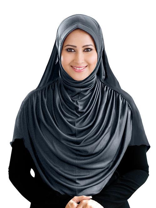 Modest Women's Designed Fleeted Stylish Feel Good Fabric FAEEZAH Hijab Grey