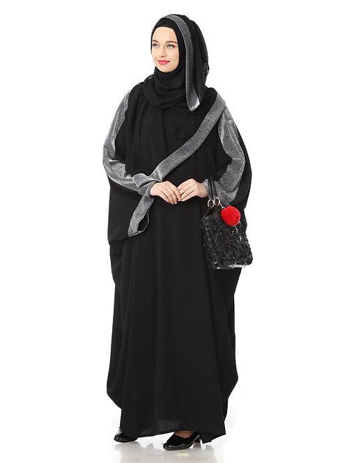 Women's Designed elegant Look SHEHARBANO feel good abaya BLACK