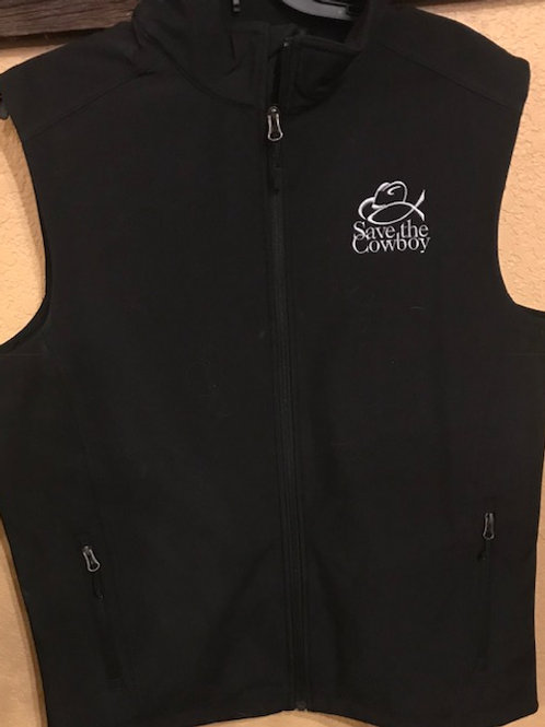 Mens Save the Cowboy/Long X Ranch Vest