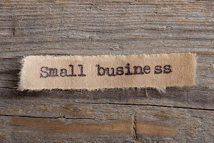 Small Business - word on a piece of pape