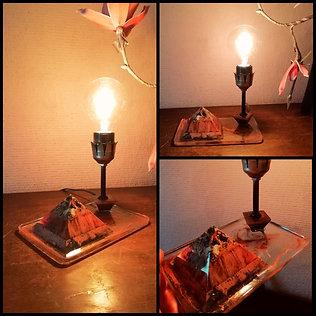 Lampe Orgonite Quartz Pyrite
