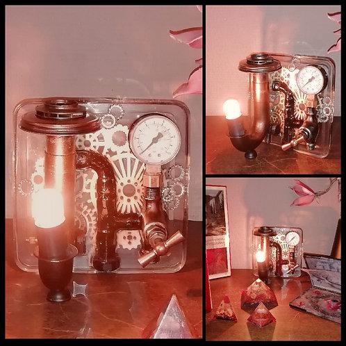 Lampe Résine Plomberie