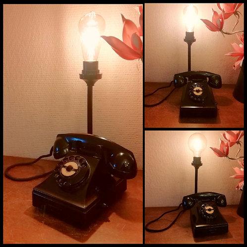 Lampe Téléphone de Standard vintage bachélite noir