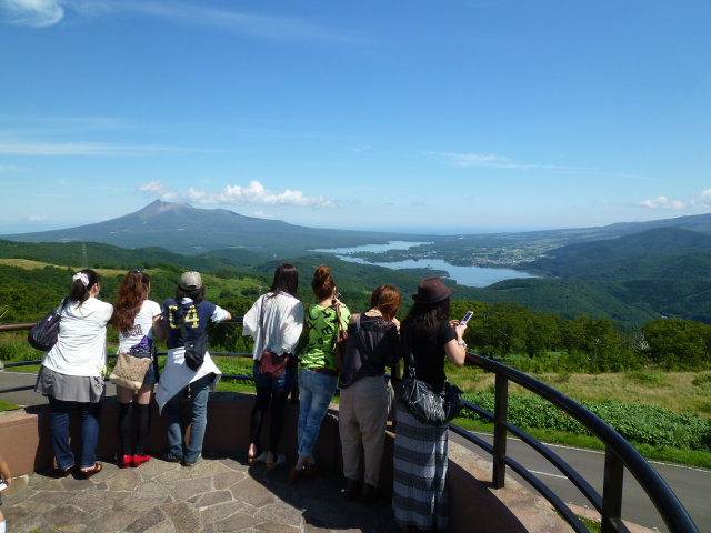 きじひき高原パノラマ展望台からの絶景(写真:北斗市提供)