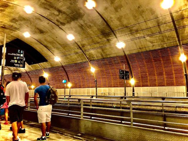 モナコ公国の駅(フランスとモナコの国境付近)
