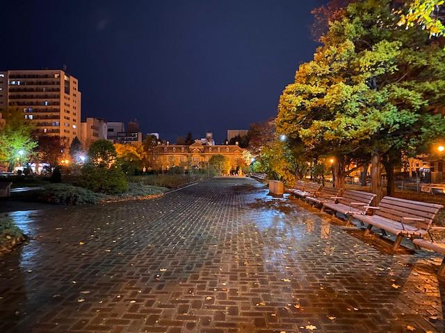 真夜中の大通公園