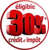 - 30% (CITE) sur la fourniture de fenêtres, volets et portes
