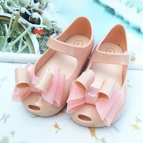 Mini Melissa Nude Flower Jelly shoe