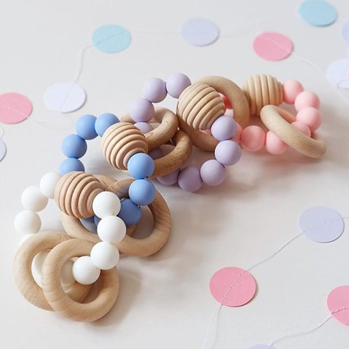 Beehive Wooden Beaded Teether