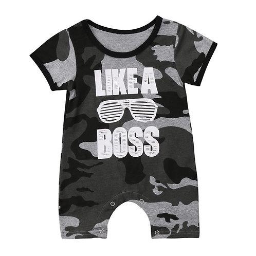 Baby Boy Army Print Romper