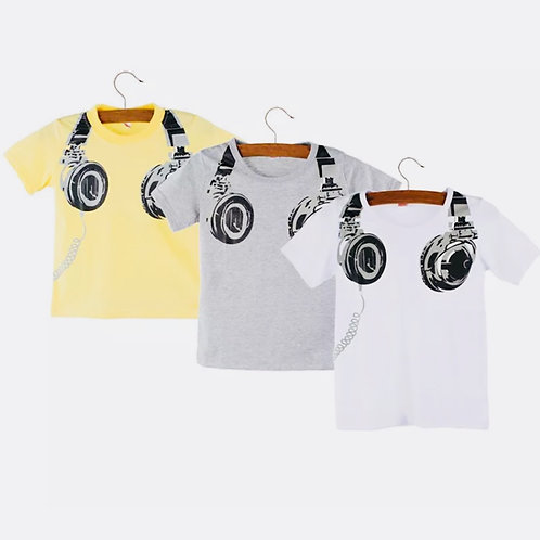 Boys Head Phone T-Shirt