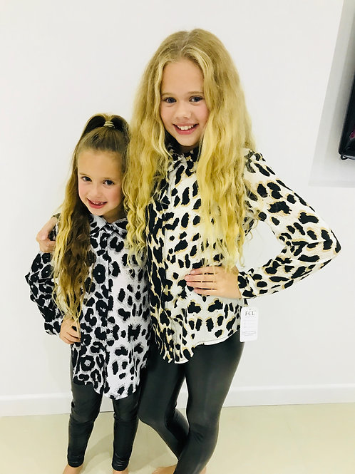 Girls Animal Print Blouse