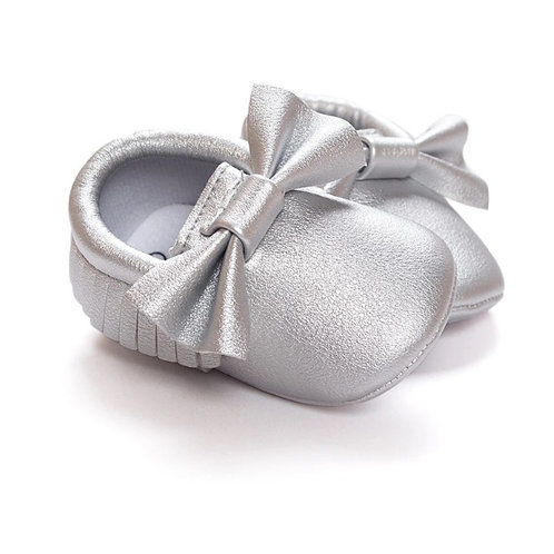 Baby Girls Leather Mocassin Shoes