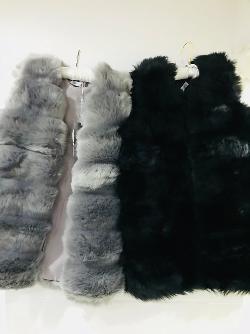 Girls Fur Gillet