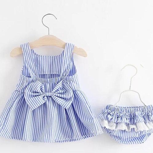 Delicate Girls Bow Back Dress
