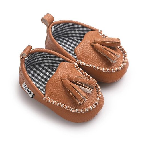 Boys Leather Mocassin Shoes