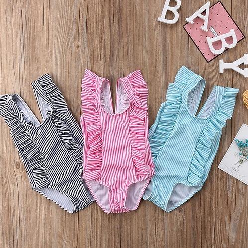 Girls Ruffle Swimming Costume