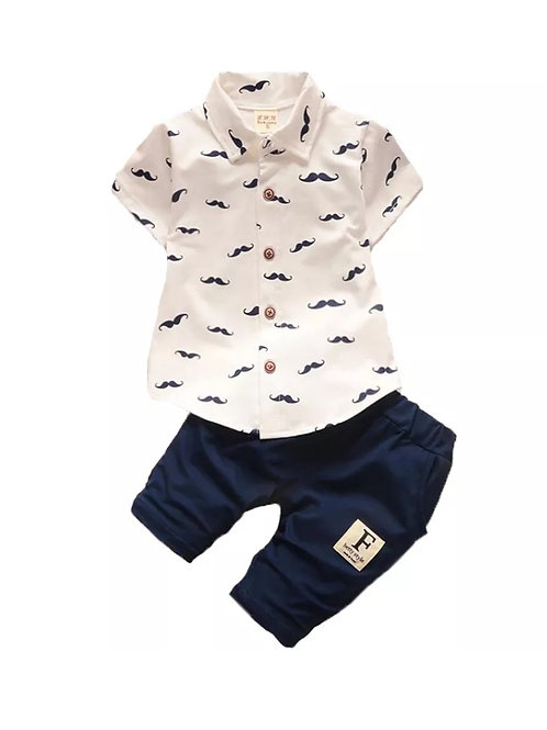 Boys Moustace Summer Set