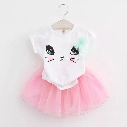 Girls Cat Top & Tutu Skirt