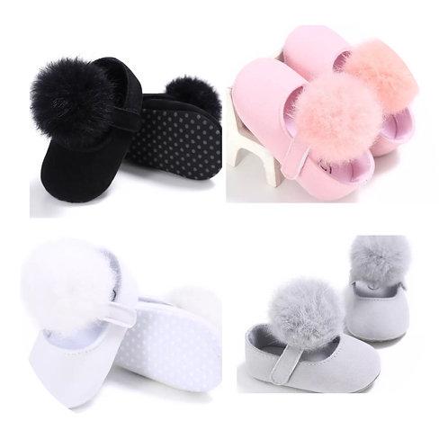 Baby Girl Pom Pom Soft Shoes