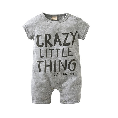 Boys Grey Romper