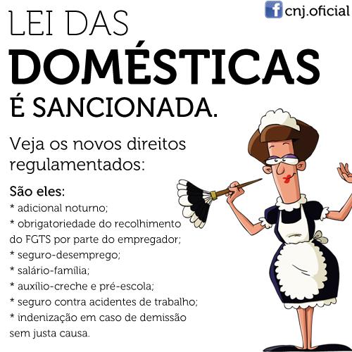 Leis Das Domésticas é Sancionada.
