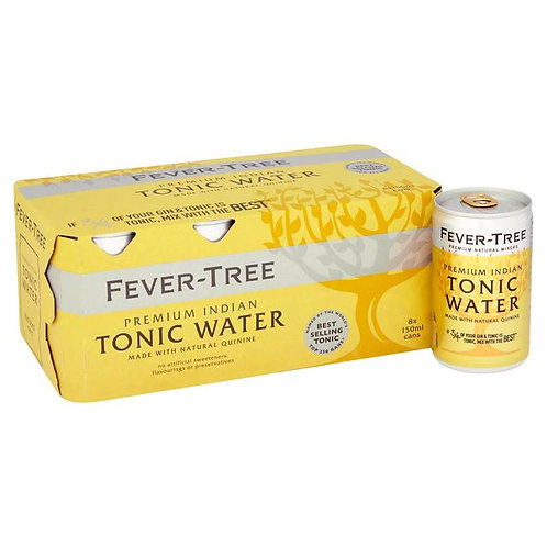 Fever Tree Tonic Water 8x150ml Cans
