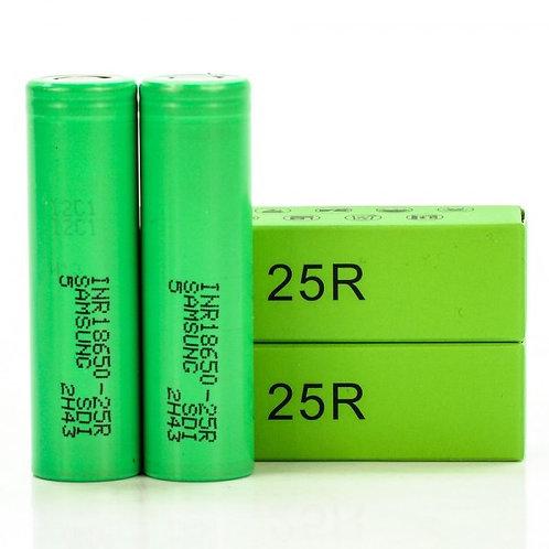 Samsung 25R 18650 Battery 2500mAh 20A